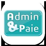 Logo AdminetPaie avec Sarah Roussel Graphiste