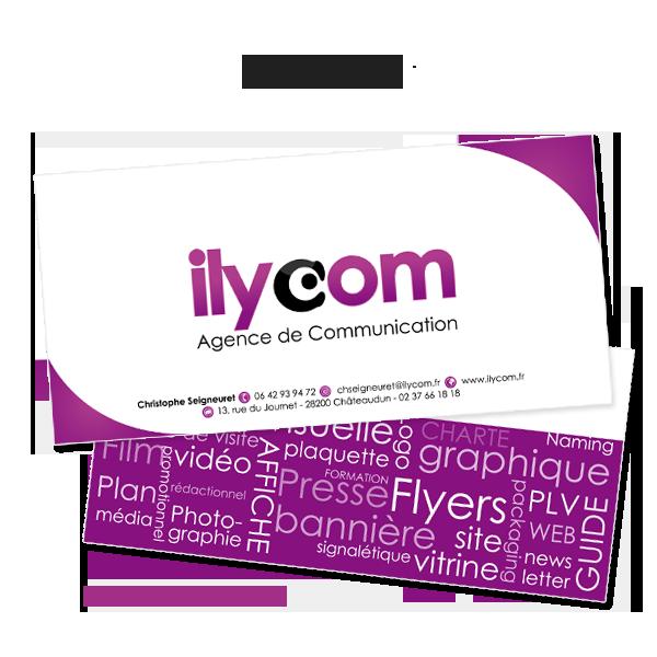 Plaquette Ilycom, agence de communication, réalisée par Sarah Roussel Graphiste