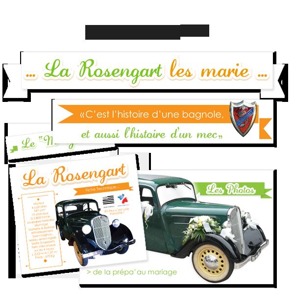 Création de l'identité La Rosengart les marie, site pour un particulier