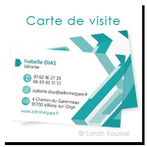 Carte de visite Admin et Paie réalisée par Sarah Roussel