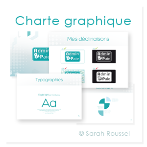 Charte graphique d'Admin et paie par Sarah Roussel