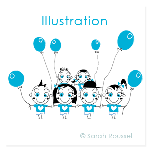 Illustration flyer autisme