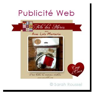 Pub facebook avec Sarah Roussel