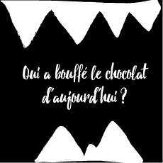 Qui a bouffé tout le chocolat ?