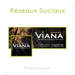 Réseaux sociaux de Viana Menuiserie