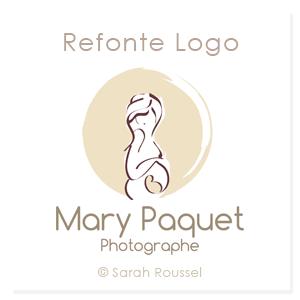 Logo photographe naissance et femme enceinte