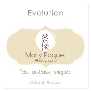 Evolution du logo de Mary Paquet