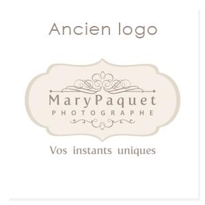 Ancien logo Mary Paquet photographe naissance à Lisses