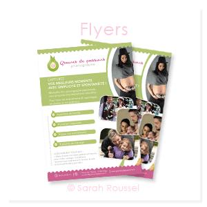 création d'un flyer pour une photographe à Egly