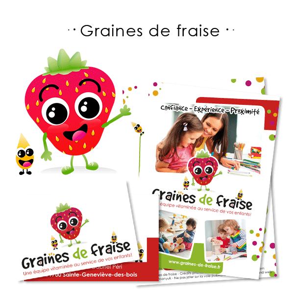 identité visuelle de Graines de fraise à Sainte-Geneviève-des-Bois