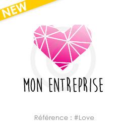 logo à personnaliser avec un coeur référence Love