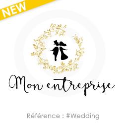 A personnaliser, logo entreprise de mariage