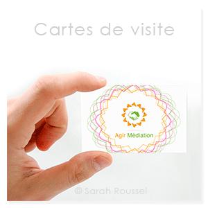 Recto de la carte de visite agir médiation