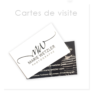 Carte de visite pour photographe corporate