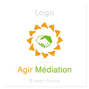 Logo de la société agir médiation