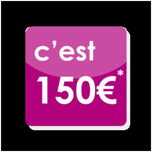 Tarif charte graphique avec les éléments graphiques que vous avez crée : le document SEUL, c'est 150 €