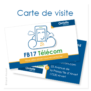 Création de cartes de visite pour FB17 Télécom, boutique de téléphonie à Arvert en Charente Maritime