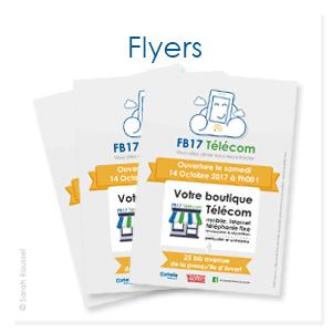 Création de flyers pour FB17 Télécom, boutique de téléphonie à Arvert en Charente Maritime