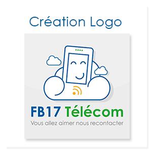 Création d'un logo pour FB 17 Télécom, boutique de téléphonie à Arvert en Charente Maritime