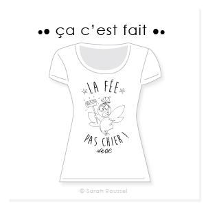 Création d'un motif fée pour t-shirt personnalisé