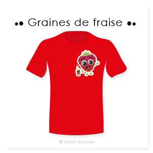 Création d'un t-shirt personnalisé Graines de fraise
