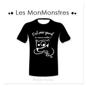 T-shirt personnalisé MonMonstres Sarah Roussel Graphiste