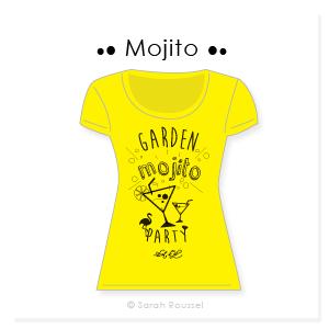 Création d'un motif mojito pour t-shirt personnalisé
