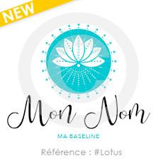 Logo à personnaliser, référence lotus