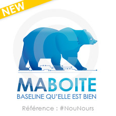 logo à personnaliser, ours bleu