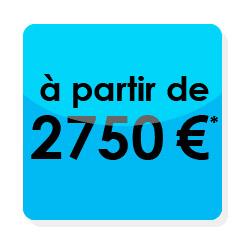Un site et vos réseaux sociaux pour 2750€ avec votre identité d'entreprise bien sûr