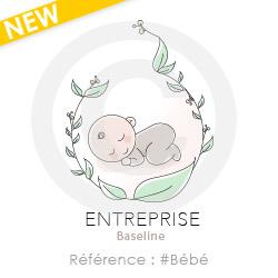 Logo pour entreprise dans l'univers bébé à personnaliser