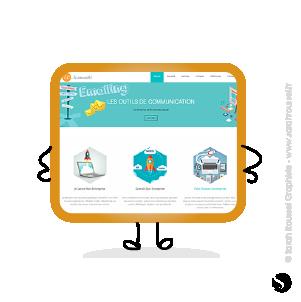 Création d'un site internet multi-pages pour une agence de communication à Ballainvilliers