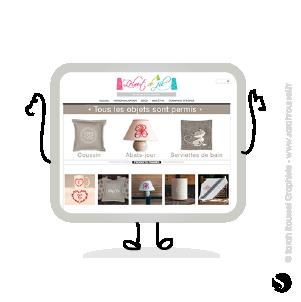 Création univers pour un site e-boutique à Dourdan