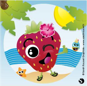 Illustration estivales pour Graines de fraise
