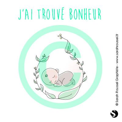 Création logo avec bébé