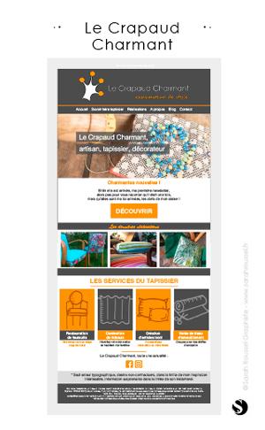 Gabarit de newsletter pour une artisane tapissier en essonne