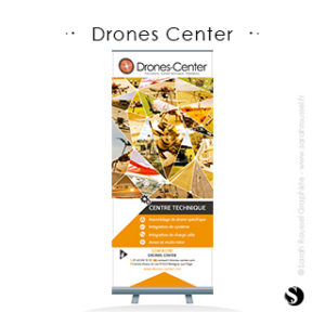 Roll-up pour Salon Drones