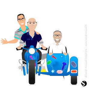 Création d'illustration service commercial