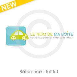 Logo avec voiture à personnaliser avec le nom de votre entreprise