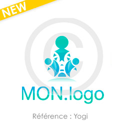 Logo Yogi à personnaliser, idéal univers de la méditation