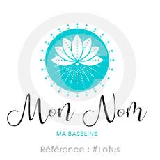Logo lotus à personnaliser