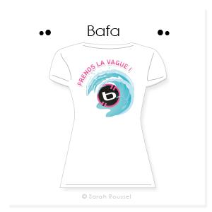 Création d'un motif estival corporate pour t-shirt entreprise