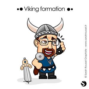 Mise en situation de l'avatar Viking formation