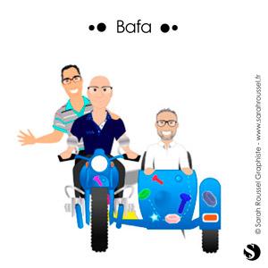 Extrait de l'illustration du service commercial terrain de la société BAFA