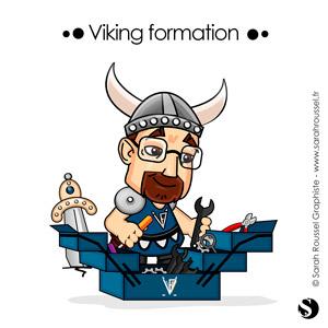 Création d'un avatar pour illustrer les services de formation de la société Viking