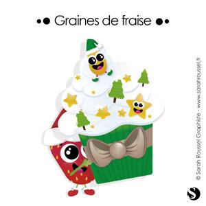 Illustration de Noël pour Graines de fraise