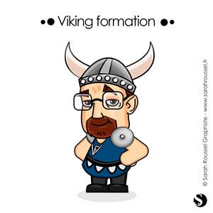 Illustration avatar Viking formation