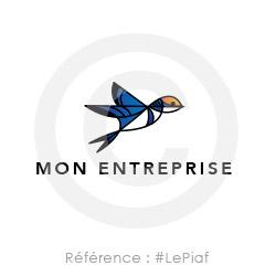 Logo avec un oiseau à personnaliser
