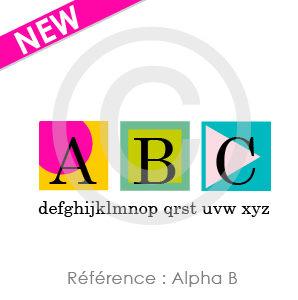 Logo Alpha B, à personnaliser