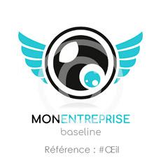 Logo entreprise avec objectif photo